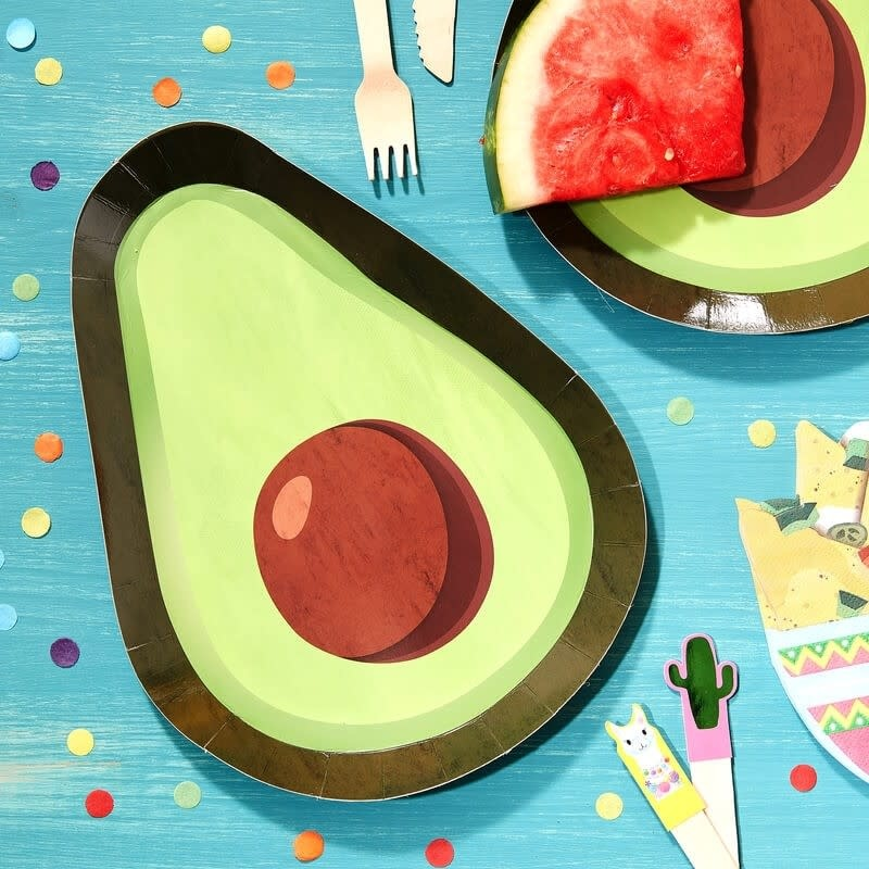 GINGERRAY AVOCADO SHAPED PAPER PLATES - VIVA LA FIESTA