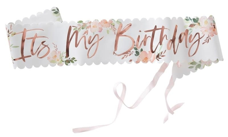 GINGERRAY IT'S MY BIRTHDAY FLORAL SASH - DITSY FLORAL