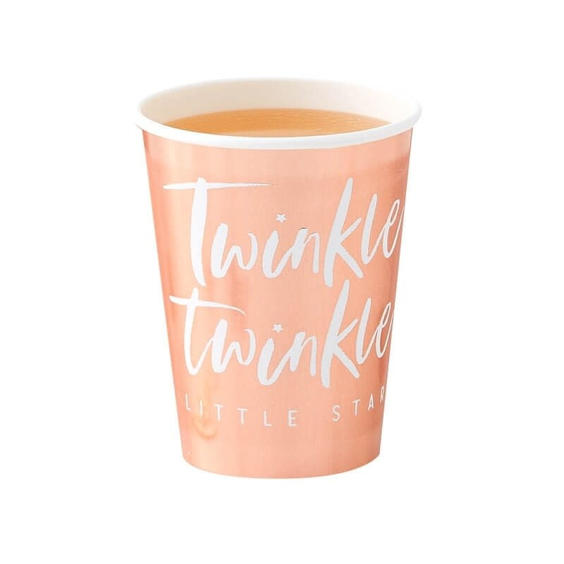 GINGERRAY ROSE GOLD FOILED PAPER CUPS - TWINKLE TWINKLE