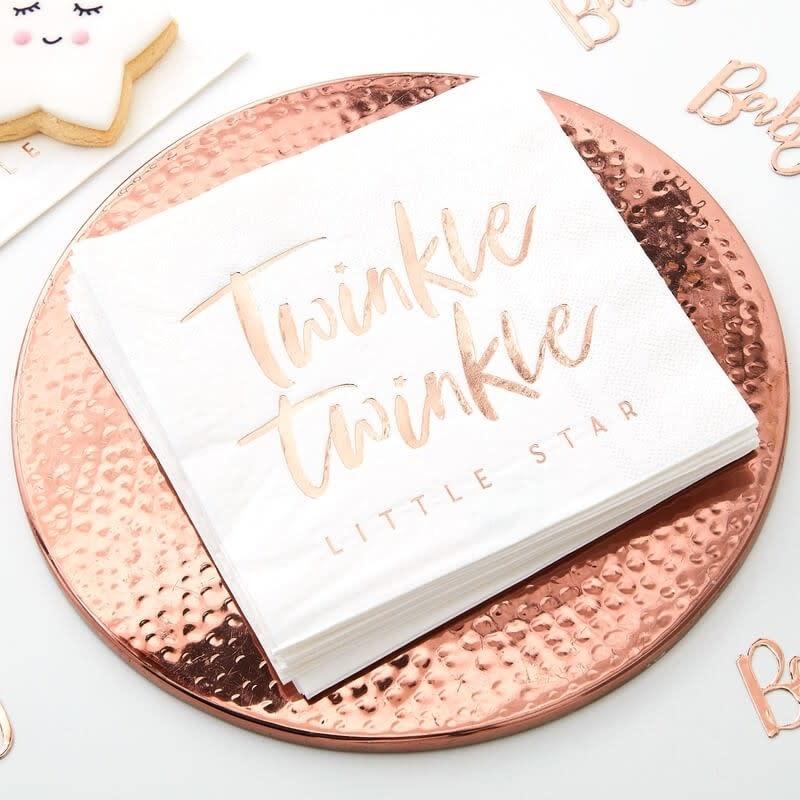 GINGERRAY ROSE GOLD TWINKLE TWINKLE PAPER NAPKINS - TWINKLE TWINKLE
