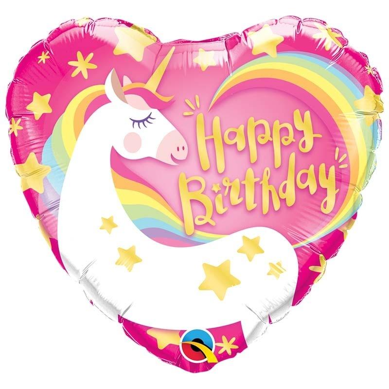 SMP unicorn happy birthday foil balloon 45cm