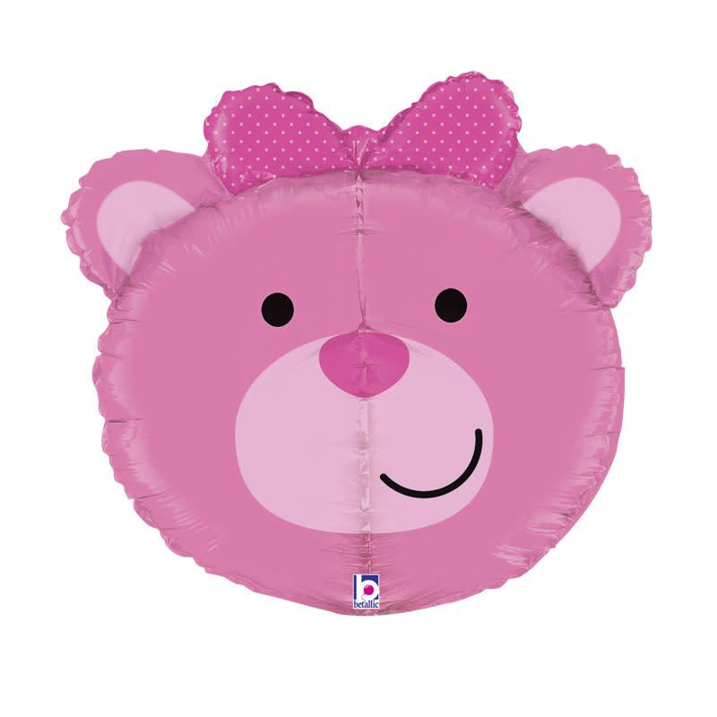 SMP dimensional pink bear foil balloon 69 cm