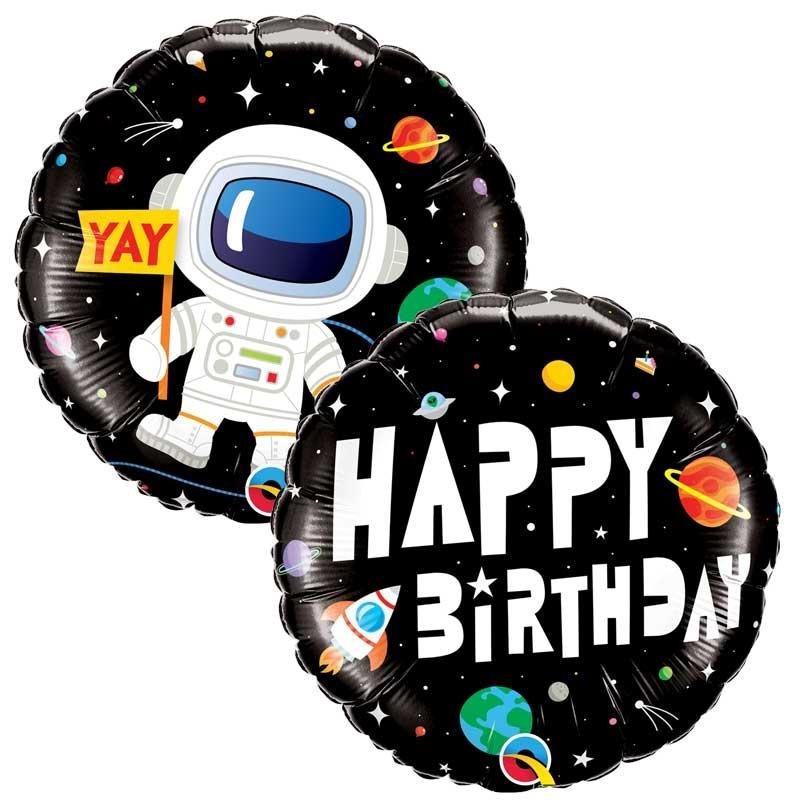SMP happy birthday astronaut foil balloon 46 cm