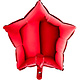 SMP star foil balloon red 55 cm