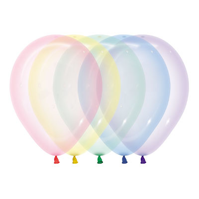 HH crystal pastel latex balloons assortment 5 x