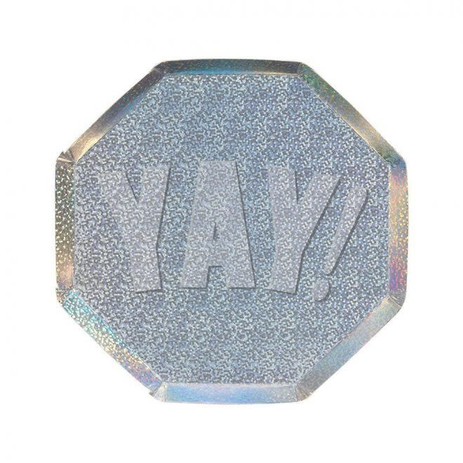 MERIMERI Yay sparkle side plates