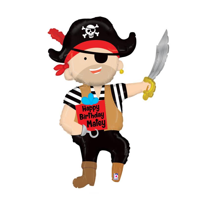 SMP pirate happy birthday foil balloon 112 cm