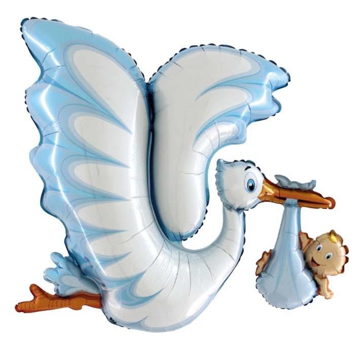 SMP dimensional blue stork foil balloon 135 cm