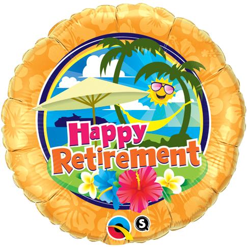 SMP retirement sunshine foil balloon 45 cm