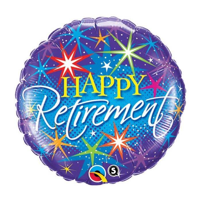 SMP retirement fireworks foil balloon 45 cm