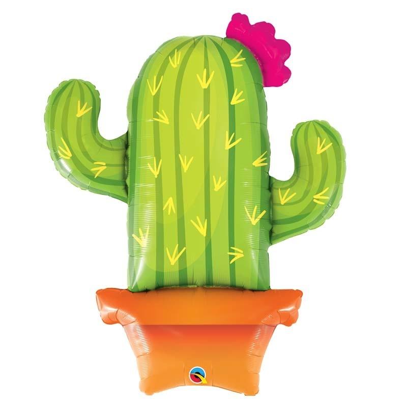 SMP potted cactus foil balloon 100 cm