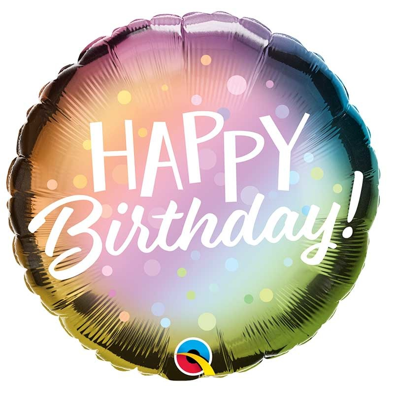 SMP birthday metallic ombre foil balloon 45 cm