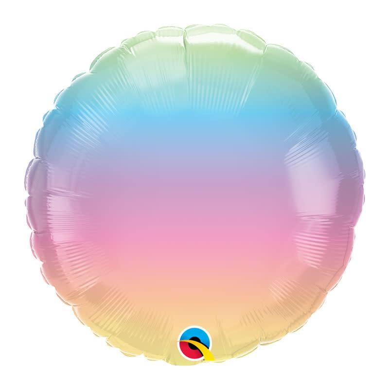 SMP circle foil balloon pastel ombre 45 cm