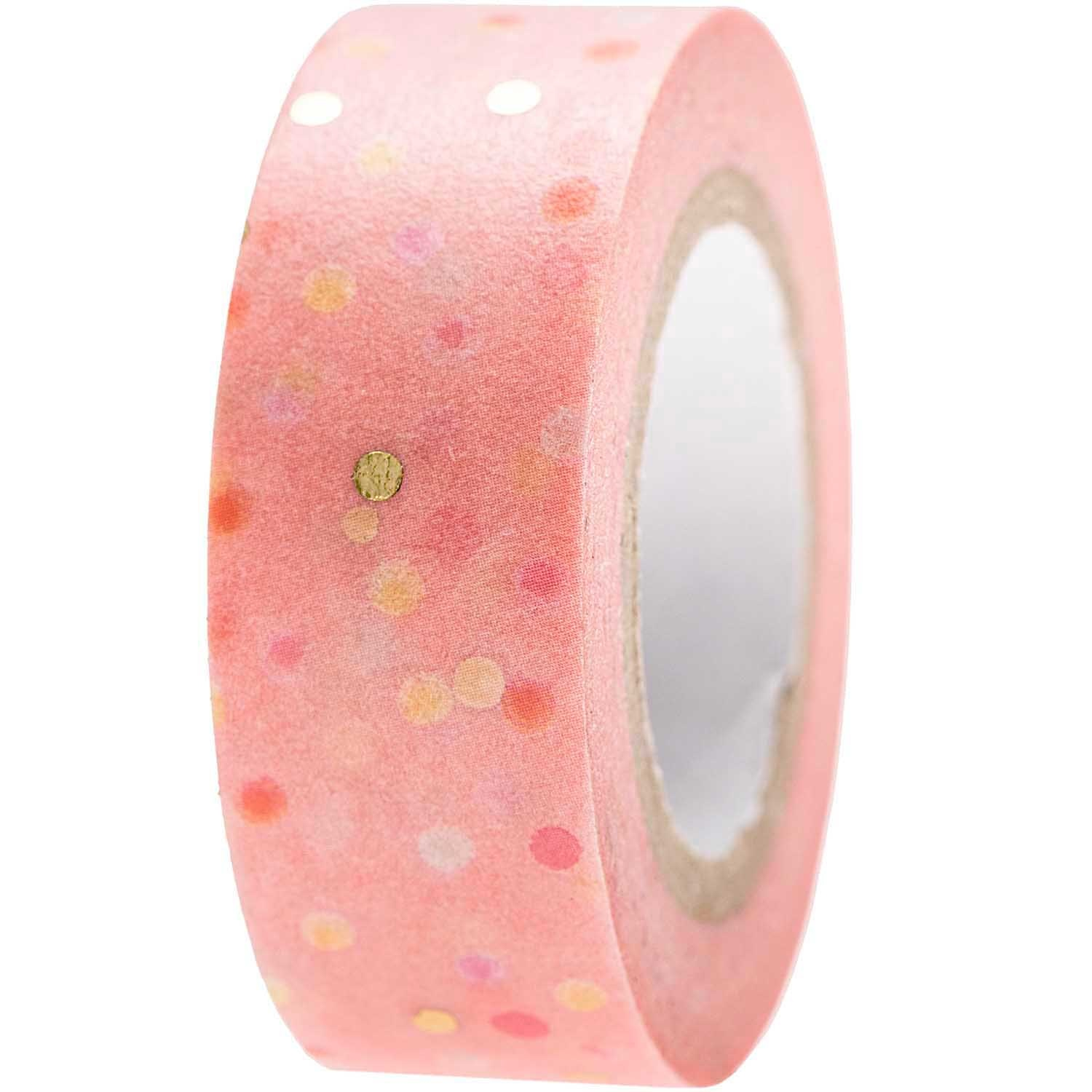 RICO TAPE,CRAFTED,DOTS,PINK FSC MIX