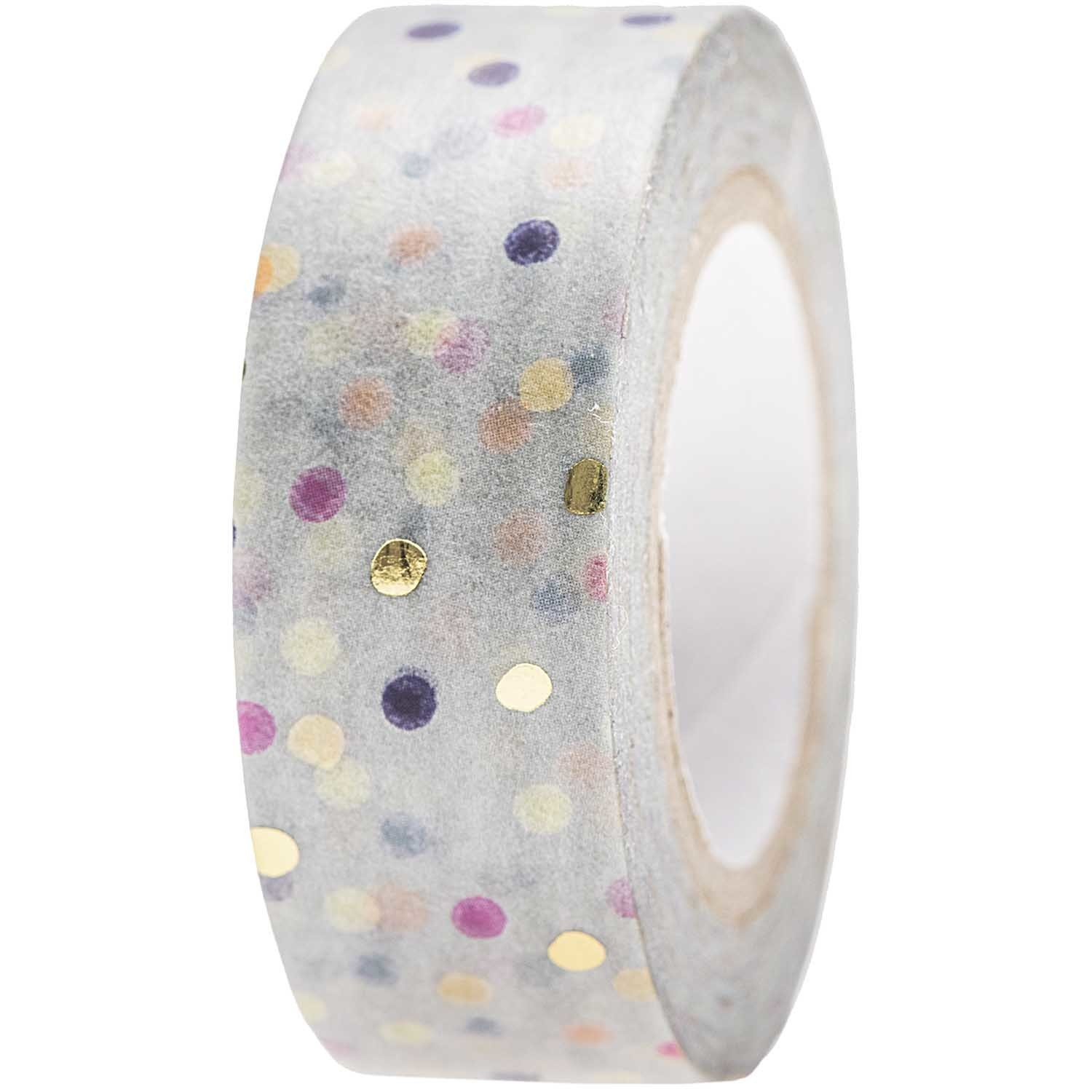 RICO TAPE,CRAFTED,DOTS,BLUE FSC MIX