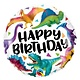 SMP Happy Birthday dino's foil balloon 45 cm