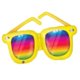 SMP rainbow striped sunglasses foil balloon 106 cm