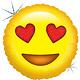 SMP emoji heart holographic foil balloon 46 cm