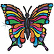 SMP art butterfly holographic foil balloon 84 cm