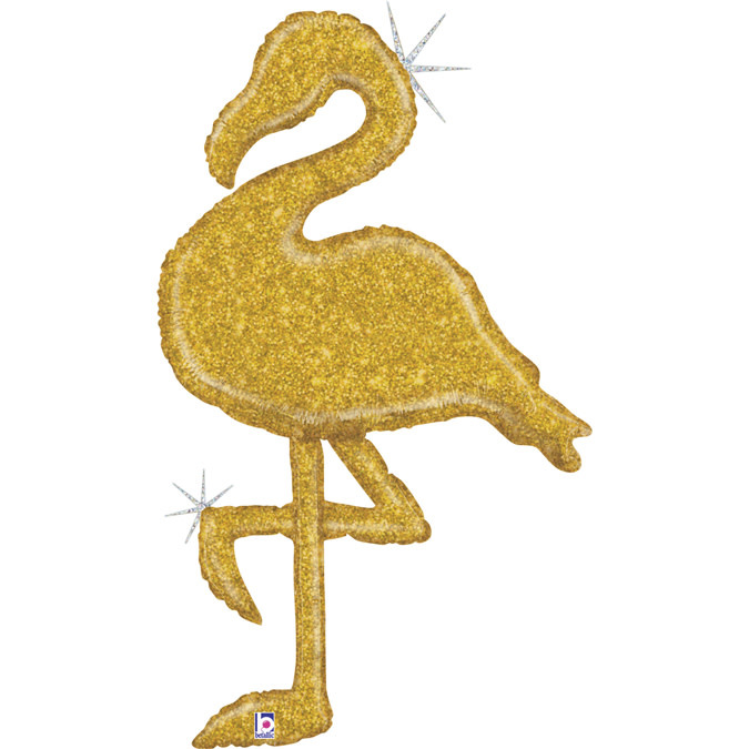 SMP flamingo gold holographic foil balloon 135 cm