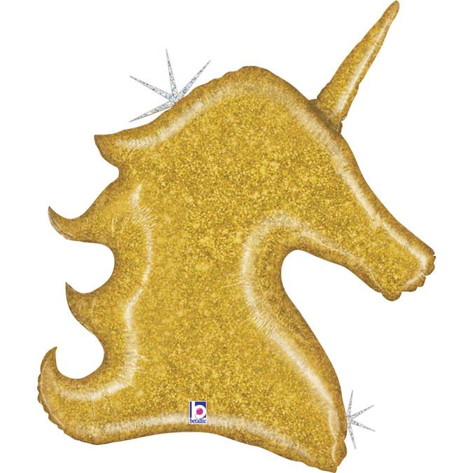 SMP unicorn gold holographic foil balloon 97 cm