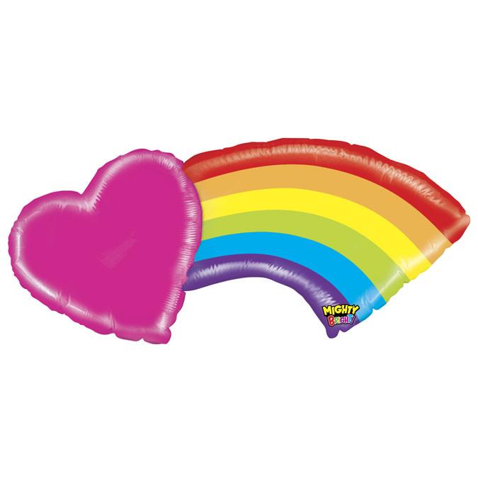 SMP heart rainbow  foil balloon 109 cm