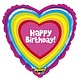 SMP happy birthday heart foil balloon 53 cm
