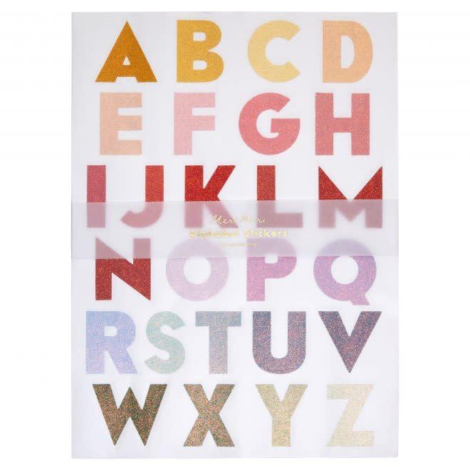 MERIMERI Ombre alphabet stickers L