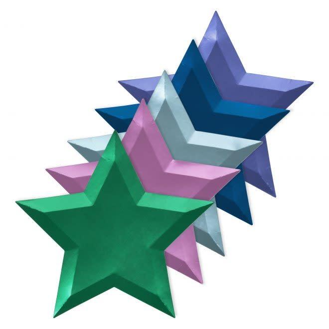 MERIMERI Metallic foil star plates