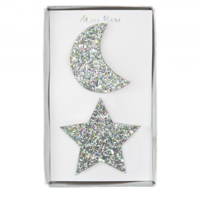 MERIMERI Star & moon hair clips
