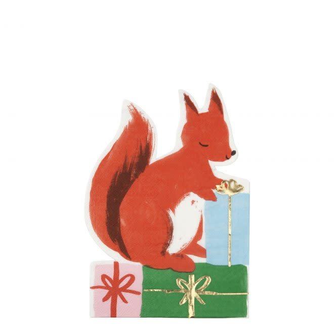 MERIMERI Woodland squirrel napkins