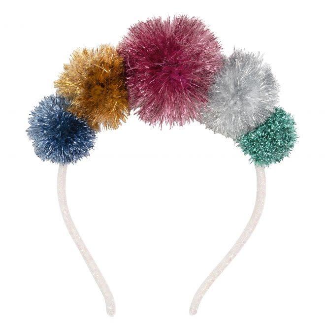 MERIMERI Tinsel pompom headband