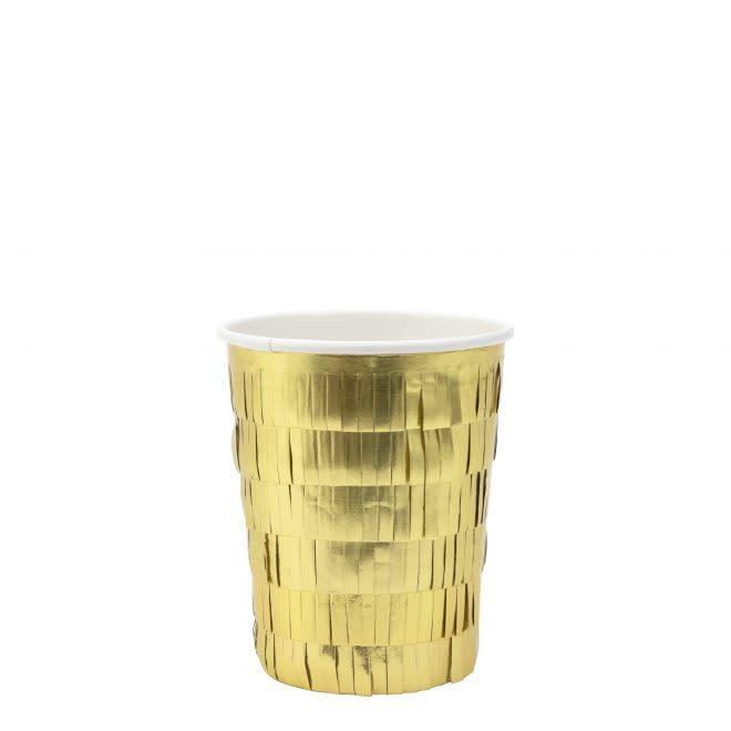 MERIMERI Gold fringe cups