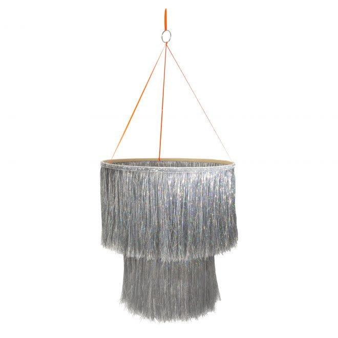 MERIMERI Tinsel silver chandelier