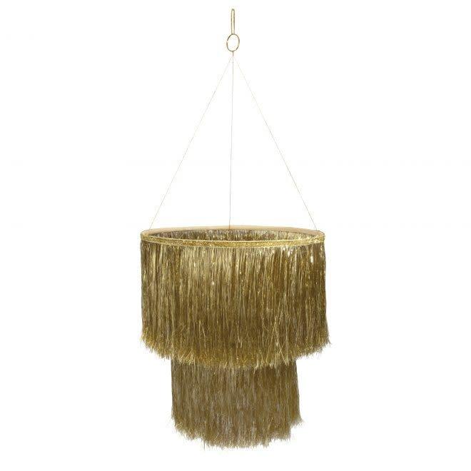 MERIMERI Tinsel gold chandelier