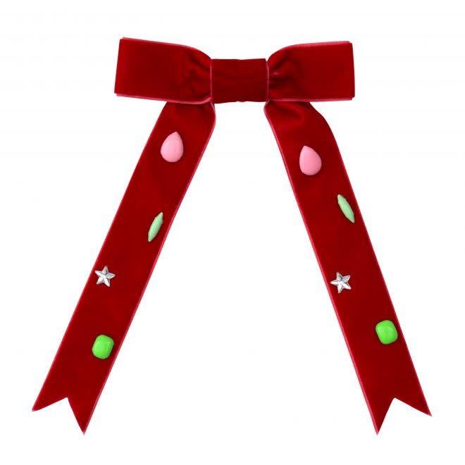 MERIMERI Red bow hair clip