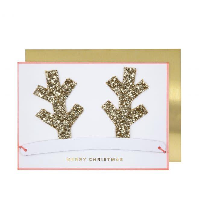 MERIMERI Antlers Christmas crown card