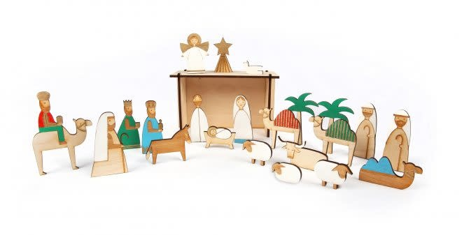 MERIMERI Wooden nativity advent calendar