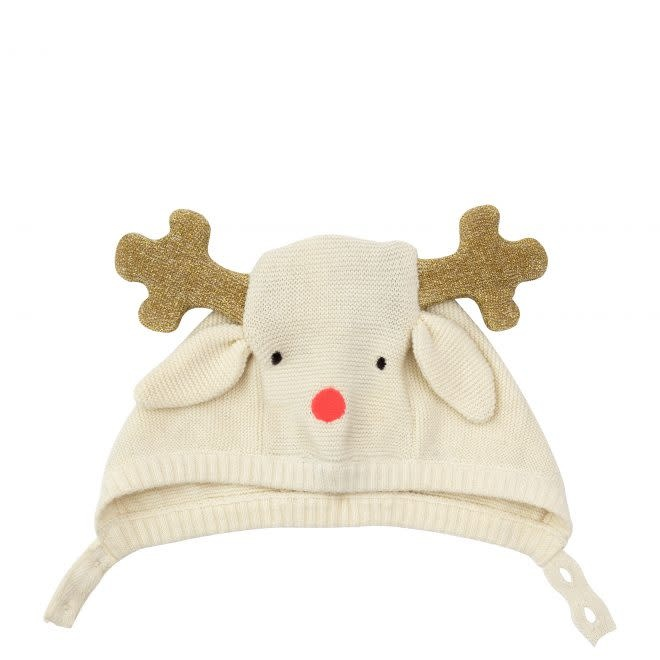 MERIMERI Reindeer baby bonnet