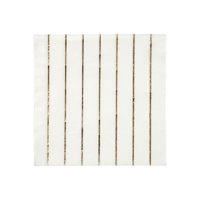 MERIMERI Gold stripe napkins S
