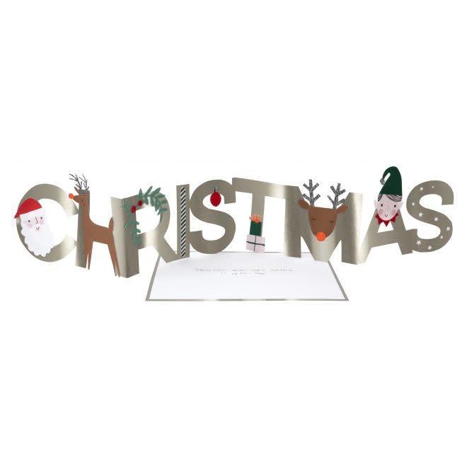MERIMERI Christmas concertina card