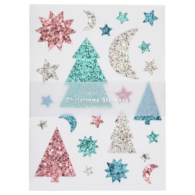 MERIMERI Glitter festive icon stickers