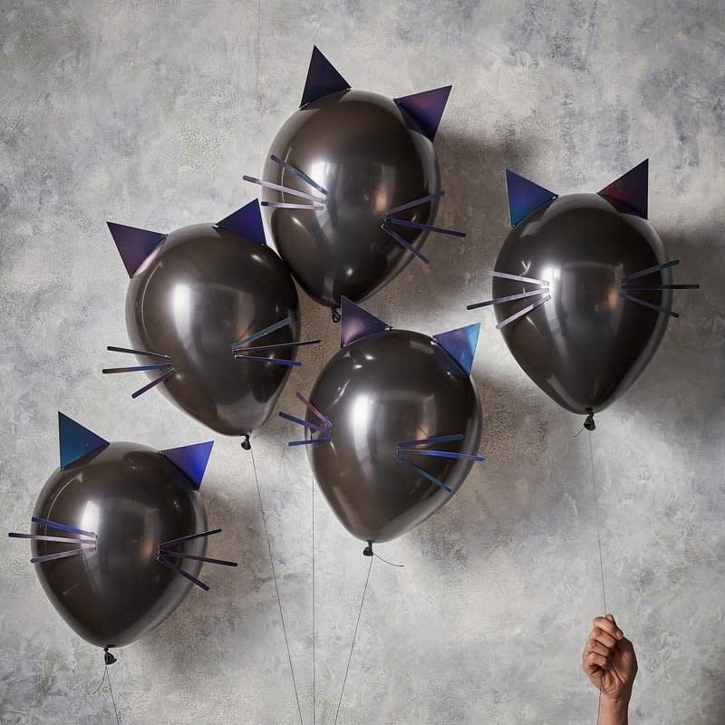 GINGERRAY CAT HALLOWEEN PARTY BALLOONS - LET'S GET BATTY