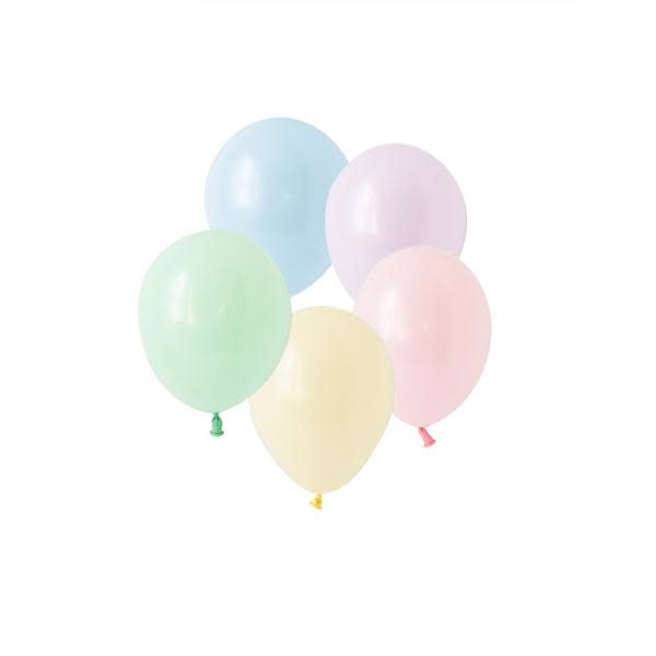 SMP 25 x mini latex balloons pastel matte 12,5 cm