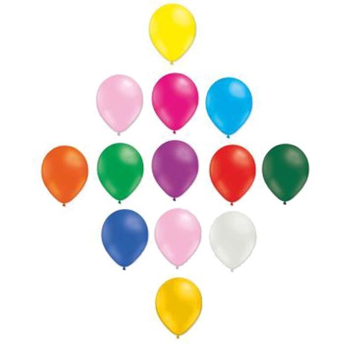 SMP 25 x mini latex balloons assorti 12,5 cm