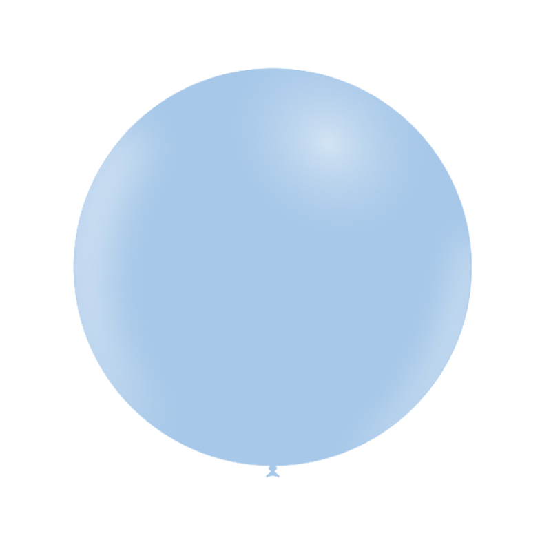 SMP 1 round latex balloon pastel matte blue 60 cm