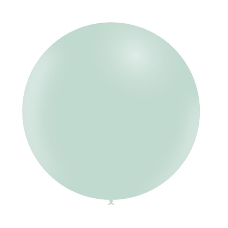 SMP 1 round latex balloon pastel matte green 60 cm