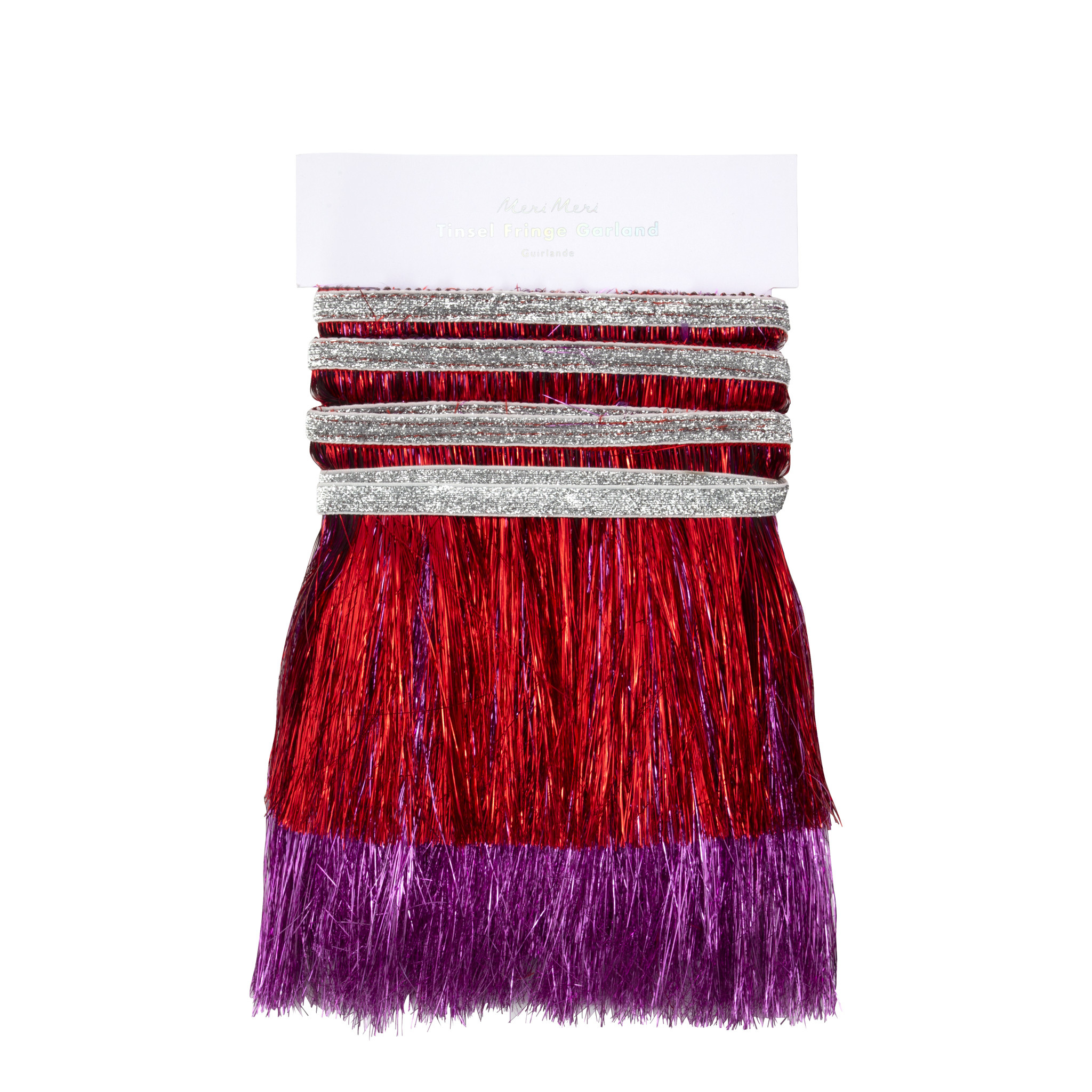 MERIMERI Tinsel red & pink garland