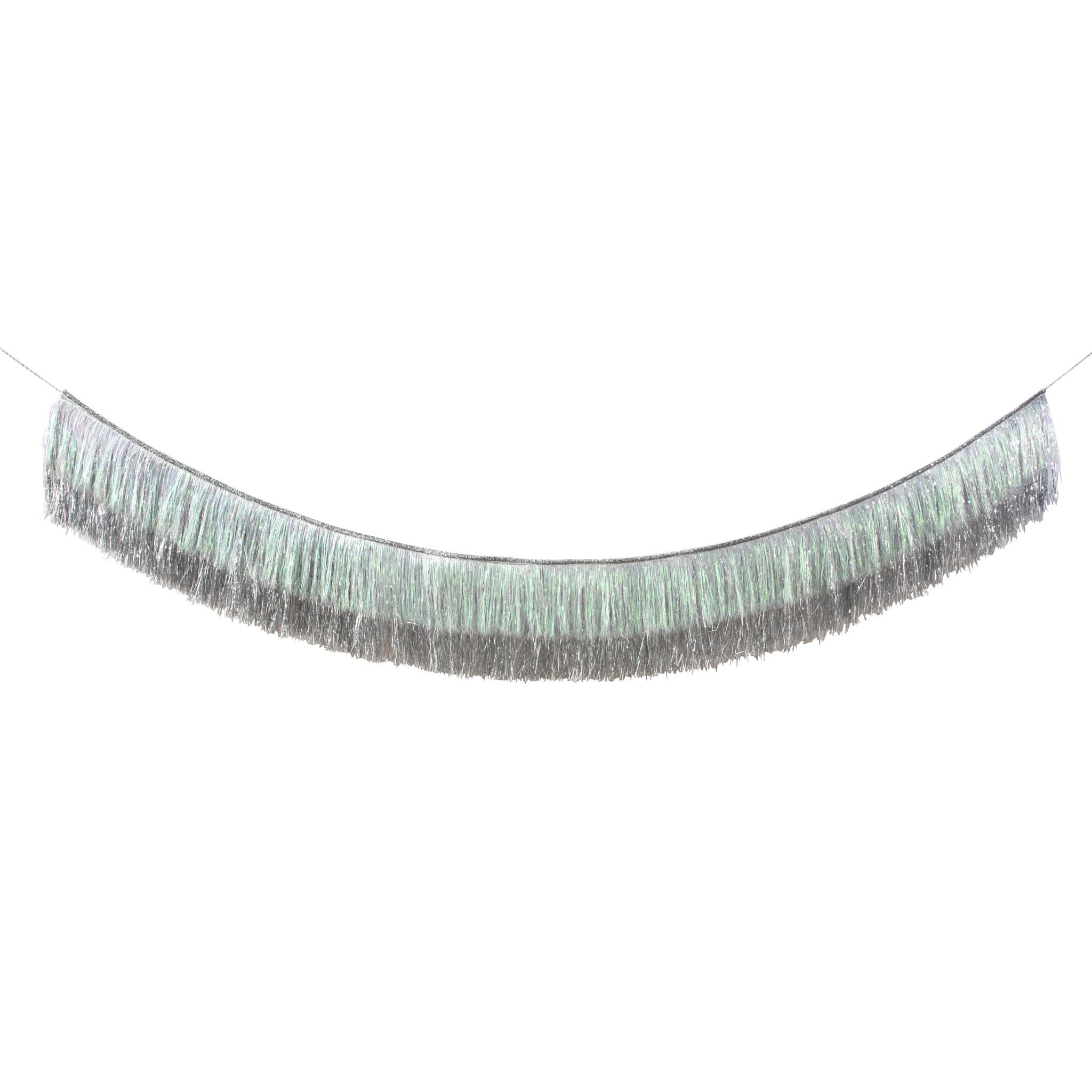 MERIMERI Tinsel silver garland