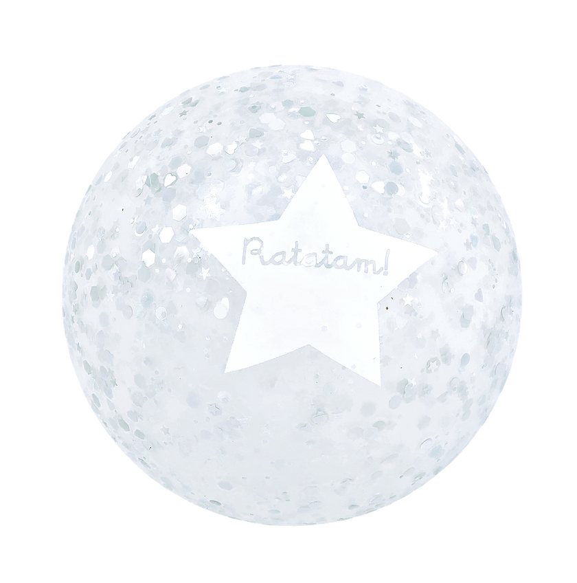 RATATAM bubble ball silver glitter 12cm